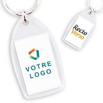 Porte Clef publicitaire PVC Goutte Rectangle 25x40