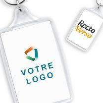 Porte-clés publicitaire acrylique grand format 55x96