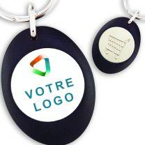Porte-clés plastique publicitaire avec jeton