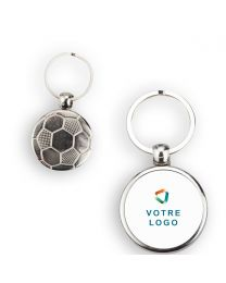 Porte-clé publicitaire ballon de foot personnalisé métal