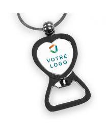 porte clés publicitaire cœur décapsuleur personnalisé