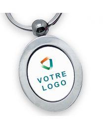 porte clés publicitaire métal ovale