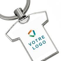 Porte-clés publicitaire métal t-shirt