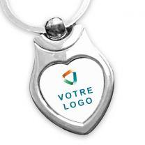 porte clés publicitaire coeur métal