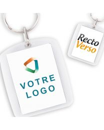 Porte Clef publicitaire Acrylique Rectangle Arrondi 40*30