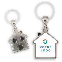 Porte clés publicitaire métal maison personnalisé