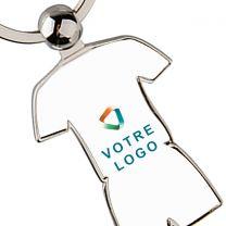 Porte-clés publicitaire métal tenue
