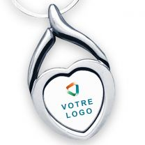 porte clés publicitaire métal cœur personnalisé