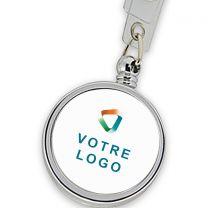 porte clé publicitaire personnalisé a fil enrouleur