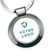 Porte-clés publicitaire métal rond 25mm