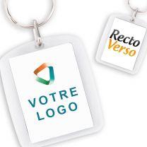 Porte Clef publicitaire Acrylique Rectangle Arrondi 40*30