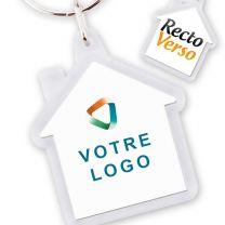 Porte-clés publicitaire Maison acrylique