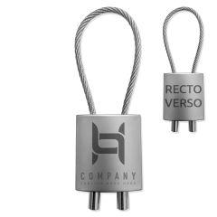 Porte-clés Métal façon cadenas cable