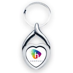 Porte-clés métal cœur personnalisé sublimation