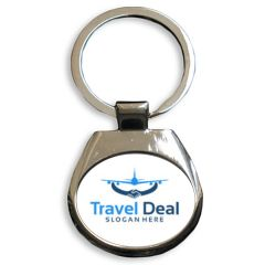 Porte-clés publicitaire médaillon oval