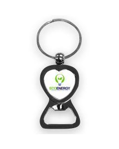 Porte-clés cœur décapsuleur personnalisé sublimation