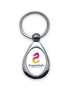 porte clés photo metal goute oval off