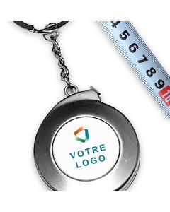 porte clés publicitaire  personnalisé mètre ruban métal