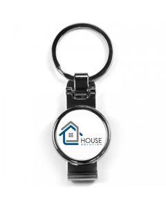 Porte-clés publicitaire métal clips ceinture off