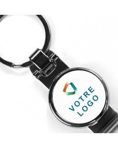 Porte-clés publicitaire métal clips ceinture