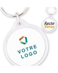 Porte-clé publicitaire acrylique rond 33 mm