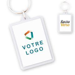 Porte-clef publicitaire Acrylique Rectangle 35x50