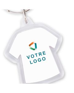 Porte-clé publicitaire acrylique t-shirt