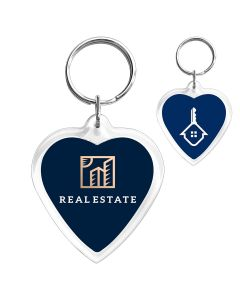 Porte-clés photo cœur personnalisé