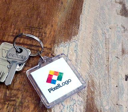 porte-clés publicitaire acrylique