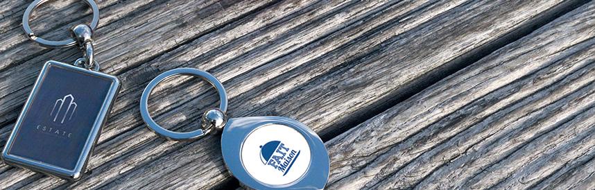porte-clés publicitaire métal